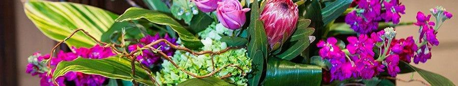 Flower arrangement - Purple green