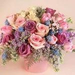 flowers with romantic color palette