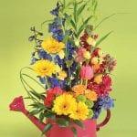 whimsical flower arrangement