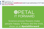 Florists Score Press with 'Petal it Forward'