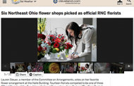 Six Ohio Florists Add Flowers to the Pomp of the GOP Convention