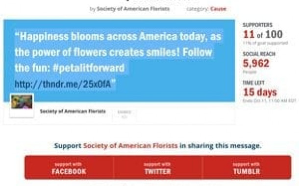 Amplify the Buzz: Support the Petal It Forward Thunderclap
