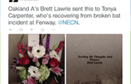Baseball Player Sends Flowers to Woman Injured by Bat