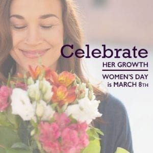 Women's Day - Facebook Sharable - Celebrate her growth
