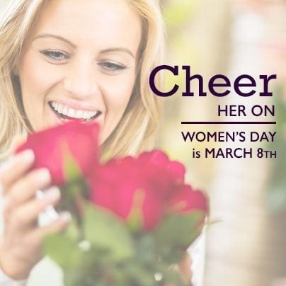 Women's Day - Facebook Sharable - Cheer Her On