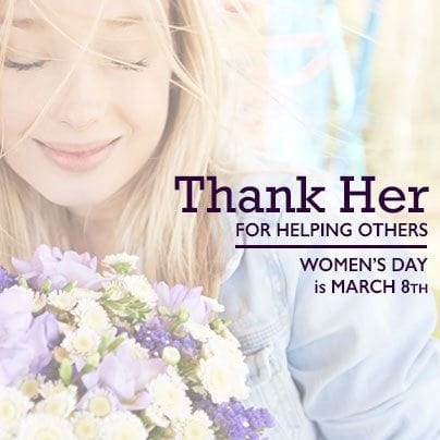 Women's Day - Facebook Sharable - Thank Her for Helping others