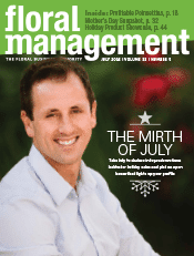 Floral Management magazine cover for July 2016