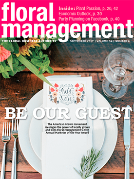 Floral Management's September 2017 cover