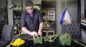 """Shawn Michael Foley of Birmingham, Alabama, used his video to create a """"fun, natural"""" tablescape."""