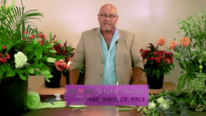 Jerome Raska AIFD, AAF, PFCI, CF, of Blumz… by JRDesigns demonstrates how to create a highly textural bridal bouquet.