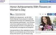 Pop Culture Picks Up on Women's Day. Will the Floral Industry?