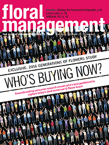 cover of May 2016 Floral Managment Magazine