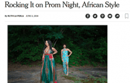 Teens Look to Africa for Prom Style