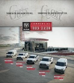 During Ram Commercial Truck Season, the $500 SAF Member Benefit Discount is stackable with other offers.