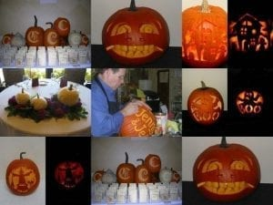 An employee's talent for pumpkin carving has helped drive additional in-store traffic during October at Bo-Ty Florist.
