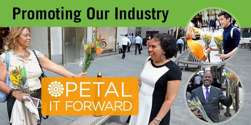banner for Petal it forward in NYC