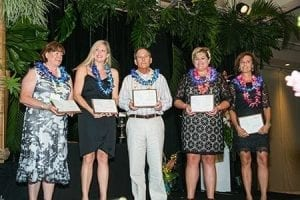 The American Academy of Floriculture salutes volunteer service to the industry and local communities. AAF inducted five new members last year (from left): Cathy Reifschneider, AAF, of Teleflora, Inc., in Phoenix, Arizona; Kaitlin Radebaugh, AAF, of Radebaugh Florist & Greenhouses in Towson, Maryland; Michael R. Pugh, AAF, of Pugh's Flowers in Memphis, Tennessee; Nikki Lemler, AAF, of Welke's Milwaukee Florist in Milwaukee, Wisconsin; and Susan Klein, AAF, of Klein's Floral and Greenhouses in Madison, Wisconsin.