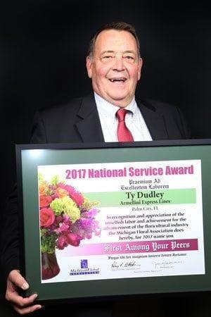 Ty Dudley, MFA 2017 National Service Award Winner