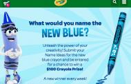Crayola's New Hue? It's Blue