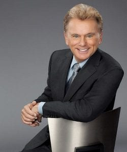 "Wheel of Fortune host Pat Sajak said, ""Mothers love flowers,"" while promoting the game show's Mother's Day Giveaway Sweepstakes."