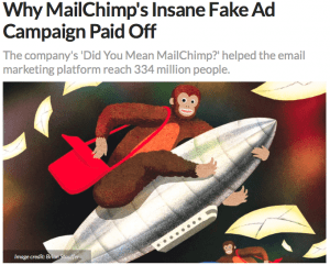 chimp on a rocket that looks like it's taking off with mail flying away