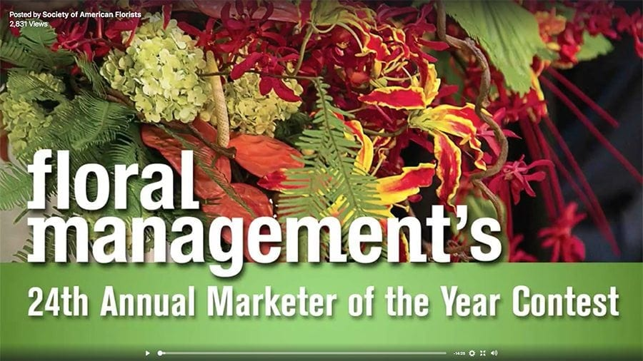 2017 Floral Management Marketer of the Year Award