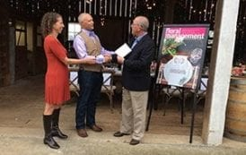 Marketer of the Year Award Presented On-Site During Field to Vase Dinner