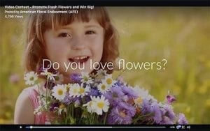 The American Floral Endowment is hosting a video contest that encourages consumers and industry members to share their flower love. The deadline to enter is Dec. 8. Find out more.