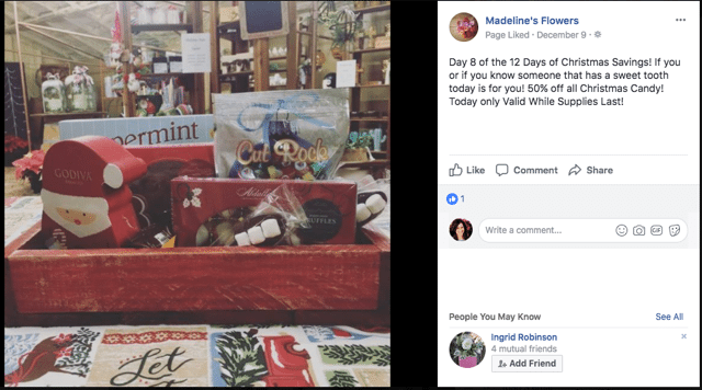 A daily deal promotion helped the ladies of Madeline's Flowers expose residents in Edmond, Oklahoma to the range of gift options available at the shop.