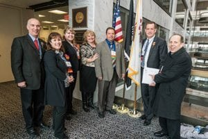 Illinois members participating in Congressional Action Days 2017 included Ed Cronin, FTD, Inc.; Jennifer Zurko, Ball Horticultural Company; Jenna, Megan and Dave Mitch-ell, AAF, Mitchell's Flowers and Events; Mike Klopmeyer, Ph.D., Darwin Perennials; and Marvin Miller, Ph.D., AAF, Ball Horticultural Company.