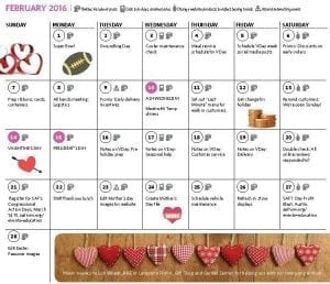 What's On Your Valentine's Day To-Do List Calendar?