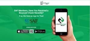 The checXchange Mobile App, available free to SAF members, makes it easier to recover funds from bad checks.