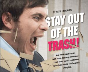 "man screaming at the words ""Stay out of the TRASH!"""