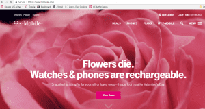 T-Mobile removed this promotion from its website after hearing from Nic Faitos of Starbright Floral Design.