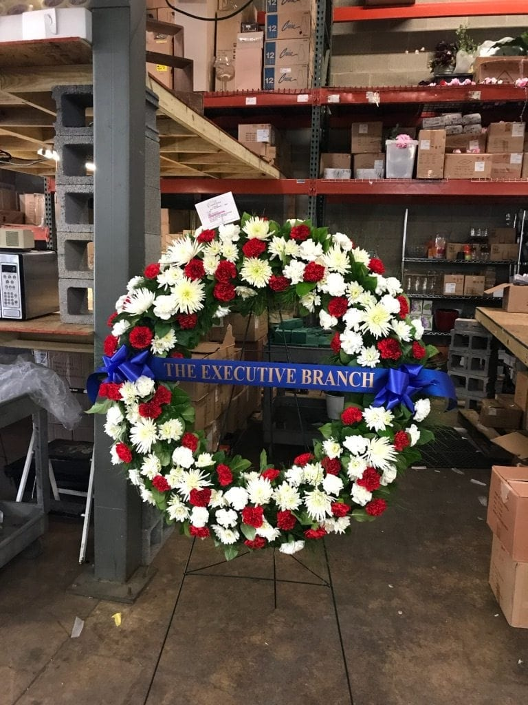 An SAF member, Conklyn's Florist in nearby Alexandria, Virginia, designed the floral arrangements that flanked Billy Graham's remains as he lay in honor in the U.S. Capitol Rotunda for two days