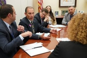 David Armellini and the SAF delegation from Florida, meet with staff members in the office of Sen. Ben Nelson.
