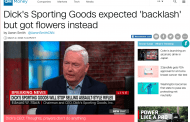 Dick's Sporting Goods expected 'backlash' but got flowers instead