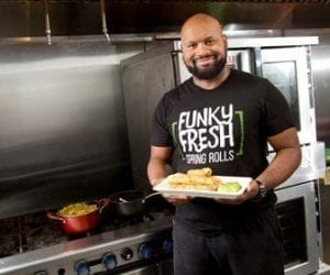 Trueman McGee of Funky Fresh Spring Rolls in Milwaukee, Wisconsin, is a 2017 FedEx Small Business Grant Contest Bronze Winner.