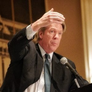 During the annual SAFPAC Fundraising Dinner, CBS News' Chief White House Correspondent Major Garrett detailed his experience covering the 2016 presidential election, and the lessons he learned from that time