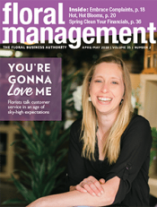cover of floral management magazine for April/May 2018