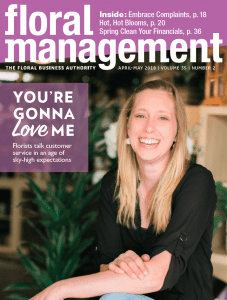 Floral Management cover for the AprilMay 2018 combination issue