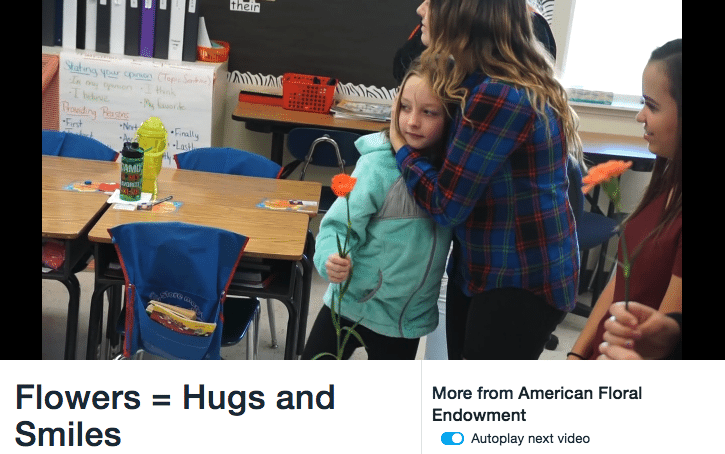 The American Floral Endowment created a video of kids gifting teachers with flowers. Share this to get some end-of-the-school-year sales.