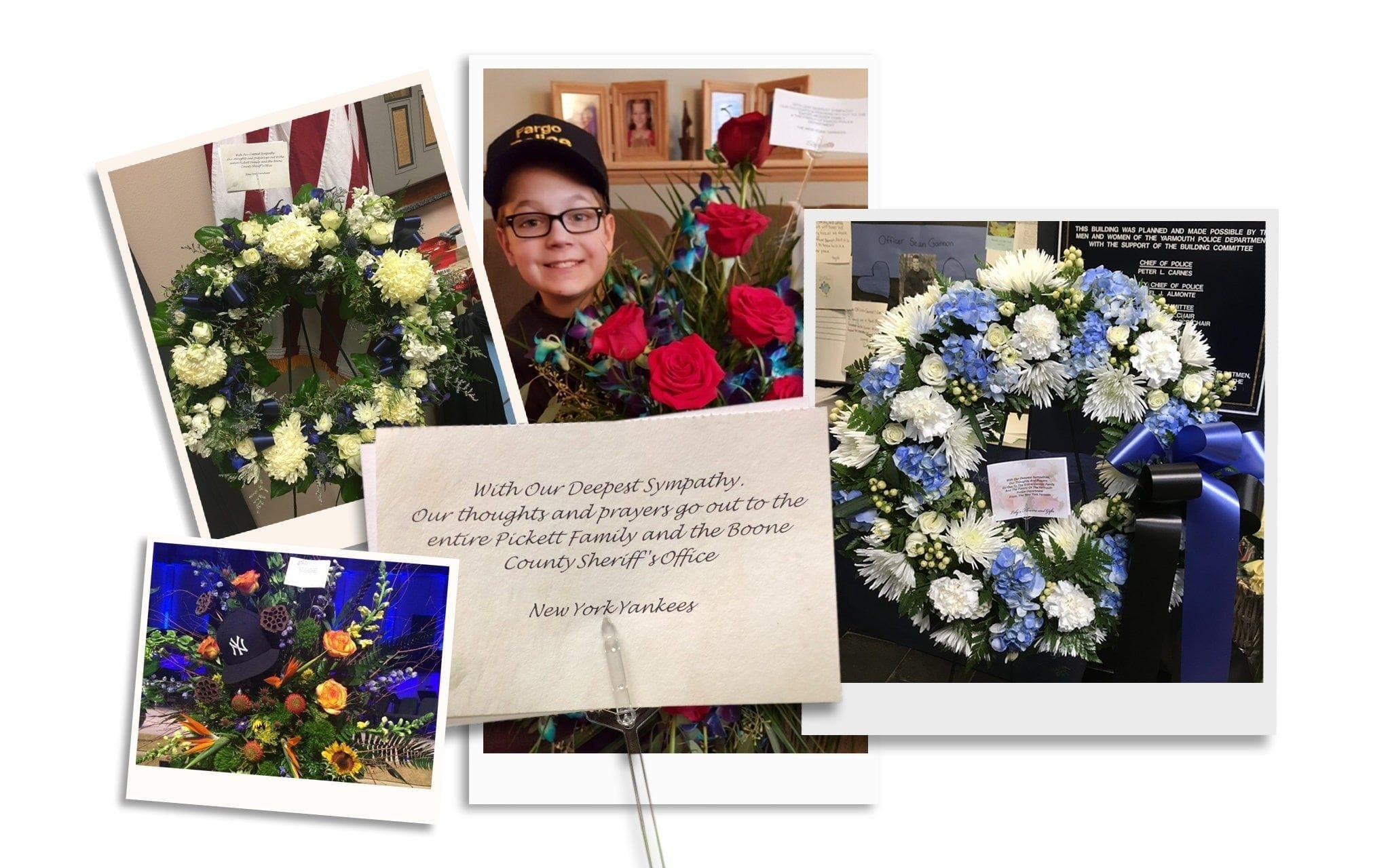Baltimore Florist Fills Yankees Order For Slain Officer