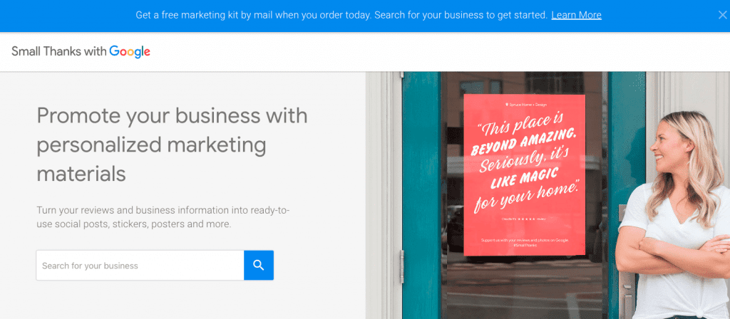 Google's 'Small Thanks' Campaign Offers Free, Personalized Marketing Materials