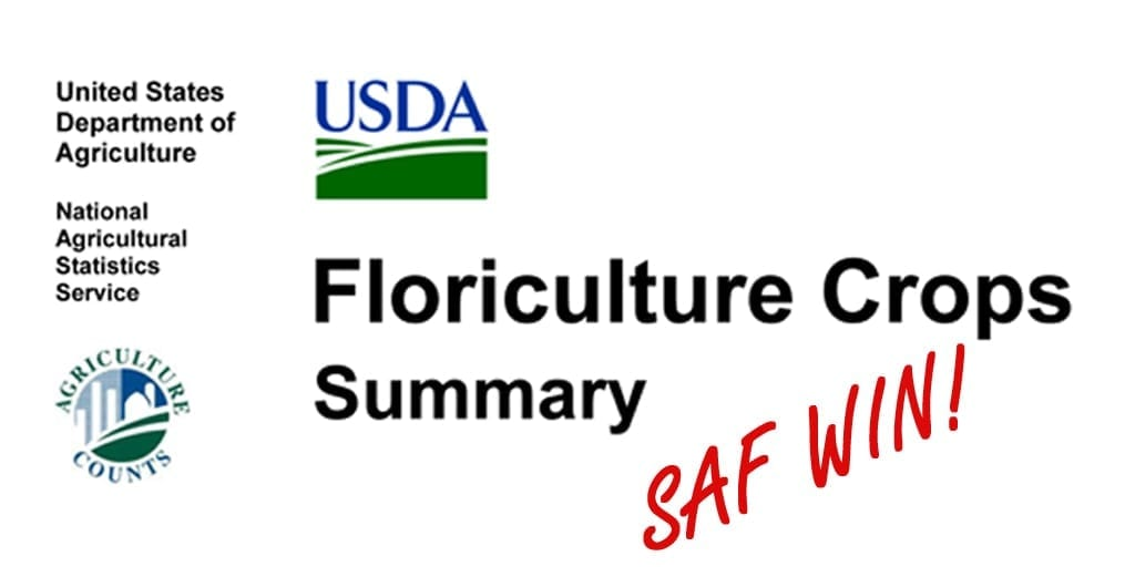 In a Victory for Floral Industry, USDA to Publish 2018 Floriculture Crops Report