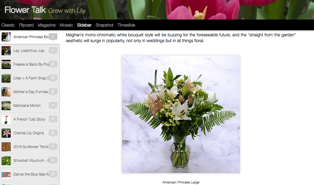 Sun Valley Farms, the 2014 Floral Management Marketer of the Year winner, created a special bouquet in honor of Meghan Markle.