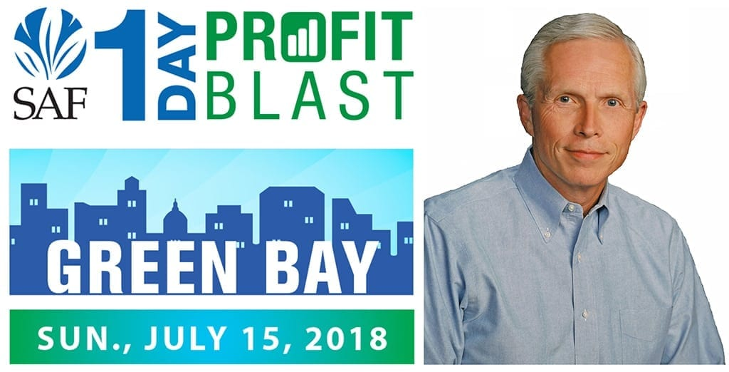 "SAF's 1-Day Profit Blast in Green Bay, sponsored by the Bill Doran Company, features Paul Goodman, MBA, CPA, PFCI who will present ""A Roadmap for Profitable Deliveries."" Early-bird registration saves you $60 and is available until July 10. Additional registrants from the same company are only $99 each."