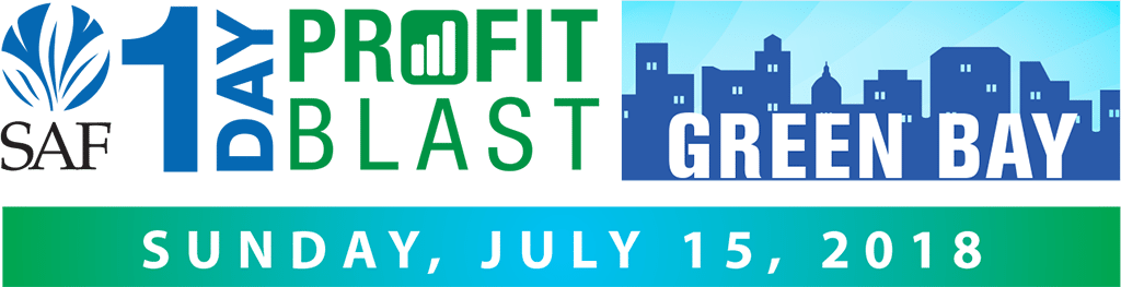 Sponsored by the Bill Doran Company, the SAF 1-Day Profit Blast in Green Bay is $139 for members and $189 for non-members, and just $99 for additional registrants from the same company. Register now at safnow.org/1-day-profit-blast.