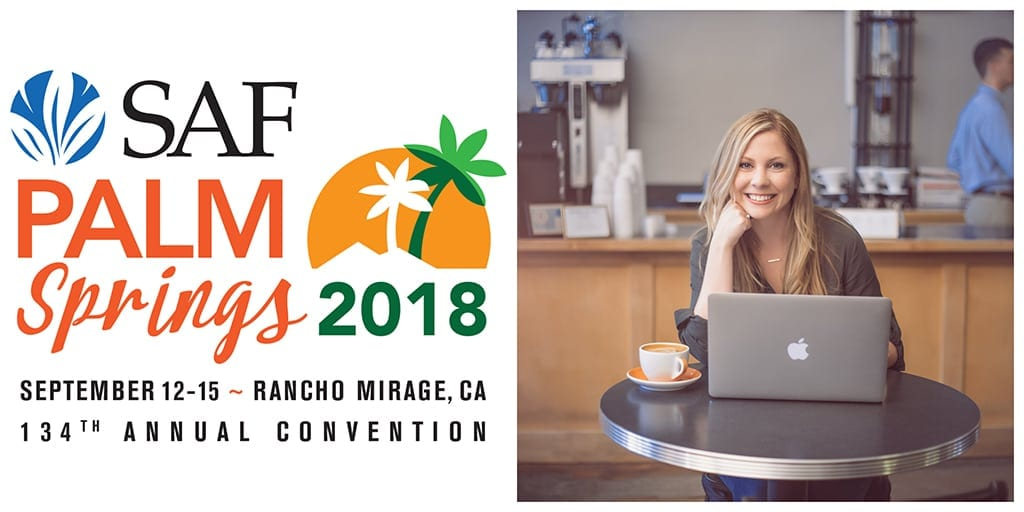 "Retail social media expert Crystal Vilkaitis will present ""One of a Kind: How to Stand Out on Social Media"" and ""Using Video to Boost Engagement"" at SAF Palm Springs 2018."