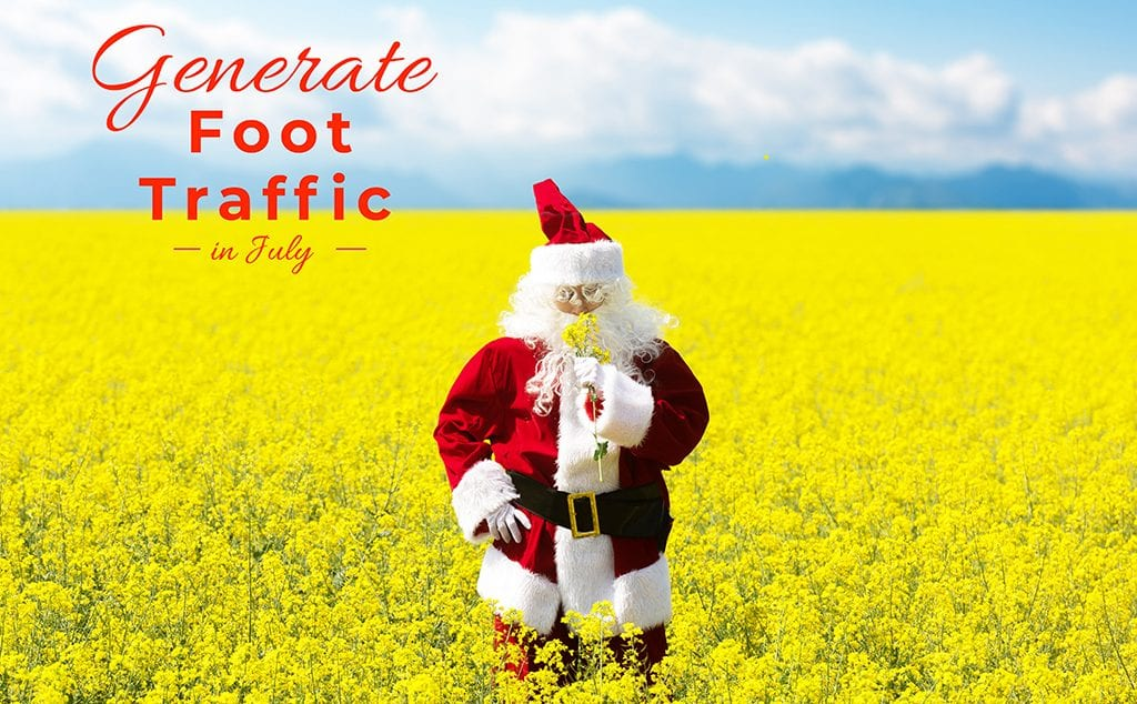 Generate Foot Traffic, Fun With Christmas in July Party